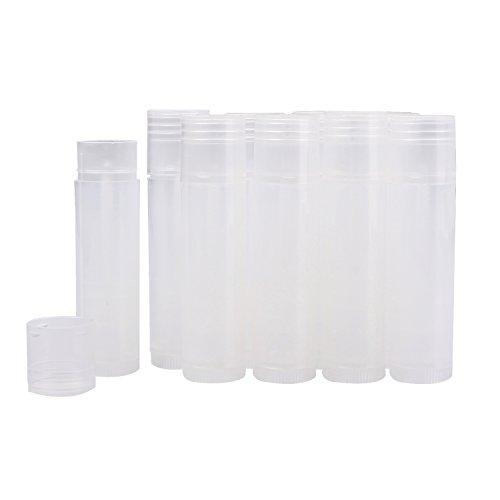 VABNEER 25pcs Lippenstifthülsen leer Leerer Tubes Lippen Balm Tubes Container Lippenpflege Leere Behälter Klare Rohr (Transparent)
