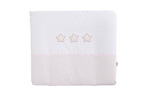 Träumeland tt16417 Matelas à langer Rêve étoiles avec housse en coton rose