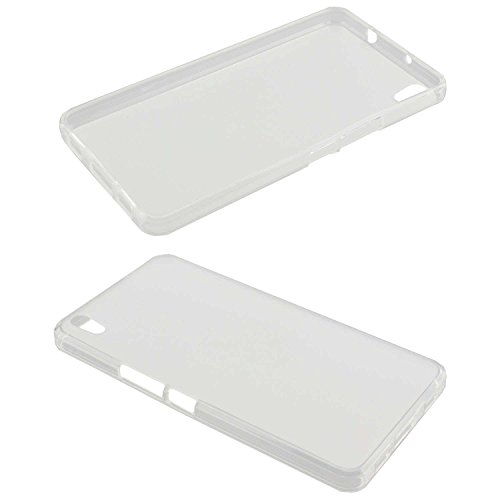 caseroxx Hülle/Tasche TPU-Hülle transparent + Displayschutzfolie für Medion Life S5504 MD 99905, Set bestehend aus TPU-Hülle und Displayschutzfolie