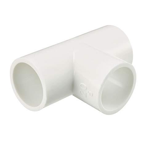 sourcing map 10Stk. PVC Rohrverbinder Rohrverschraubung T-förmiger Kupplungsstecker 20mm Slip -