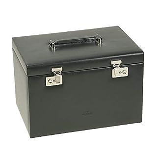 Windrose Ambiance Schmuck-/Uhrenkoffer (für 4 Uhren) mit Einsatz (als seperates Etui verwendbar) 33 cm, schwarz