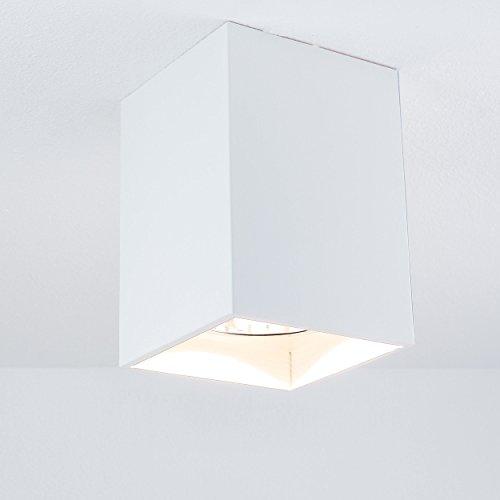 Elegante Deckenleuchte in Weiß Bauhausstil 1x E27 bis zu 60 Watt 230V aus Metall & Flur Küche...