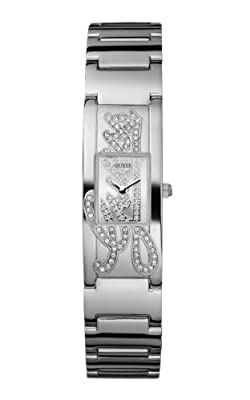 Guess Mini Autograph W95109L1 de cuarzo, correa de acero inoxidable color plata