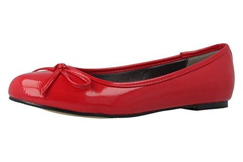 Bild von Andres Machado - Damen Ballerinas - Lack Rot Schuhe in Übergrößen