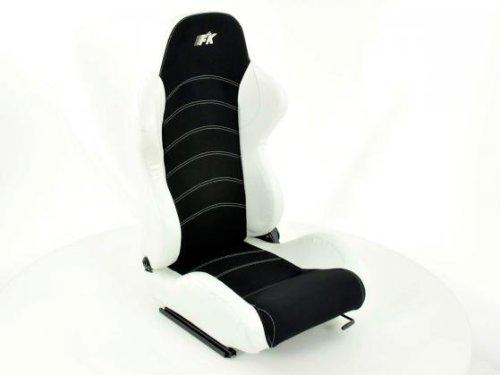 Sportsitz Set Vancouver schwarz/weiß mit Laufschienen