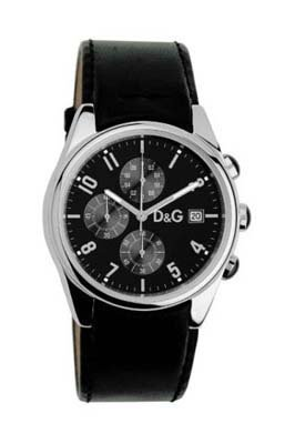 Dolce & Gabbana Dolce & Gabbana Mens Quartz Analog Watch with Stainless Steel Strap, Black