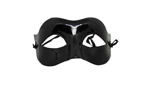Venezianische Venetianische Maskerade Maske Karneval Kostüm Fasching Verkleidung Shades of Grey Herren und Damen Funkelnd Mitternacht Schwarz (Masken Herren Karneval)