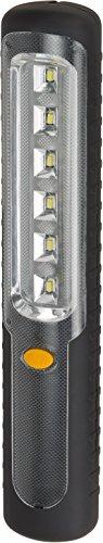 Brennenstuhl LED Taschenlampe mit Akku/Akku Handleuchte mit Dynamo zum Aufladen (mit 6 hellen SMD-LED und 9 Stunden Leuchtdauer) Farbe: schwarz