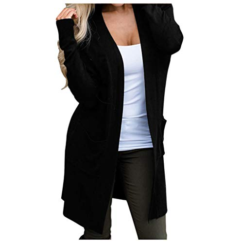 BHYDRY Frauen Lange Jacken Herbst Feste Damen Mantel Outwear Cardigan -