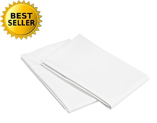 Ultra Construction Set (Celine Linen Hospitality Special Treatment Construction Luxurious Ultra Soft Kissenbezüge, Standardgröße, Weiß)