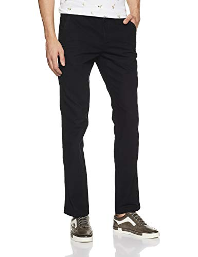 Ruggers Men's Casual Trousers (8907542497713_271399367_Black_30_IN-33)