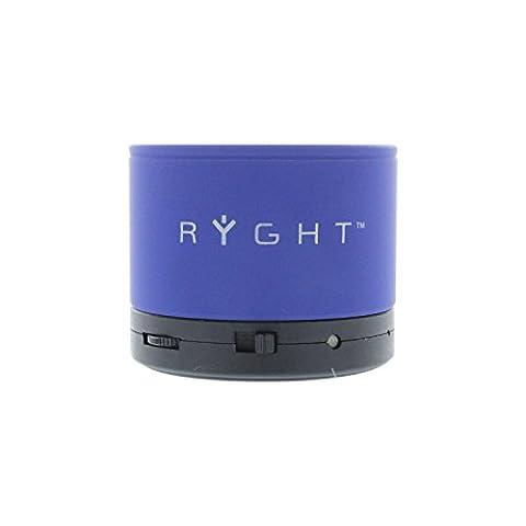 Ryght Y-Storm R480538 Enceinte filaire nomade, légère, puissance 3W, longue autonomie avec 8 heures de discussion, avec câble jack de 3.5mm et câble USB, compatible avec smartphone/tablette/IPad/ordinateur/lecteur MP3 Bleu