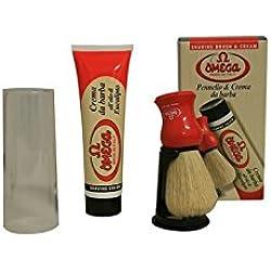 Brocha Afeitar Cerda & Crema de Afeitar Omega 150gr