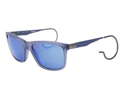 Chopard Sonnenbrillen (SCH-156-M AGQB) geräuchert blau - bedruckt blau - grau polarisierte mit blau verspiegelt effekt