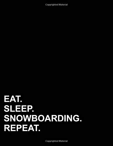 Eat Sleep Snowboarding Repeat: Isometric Graph Paper Notebook: 1/4 Inch Equilateral Triangle por Mirako Press