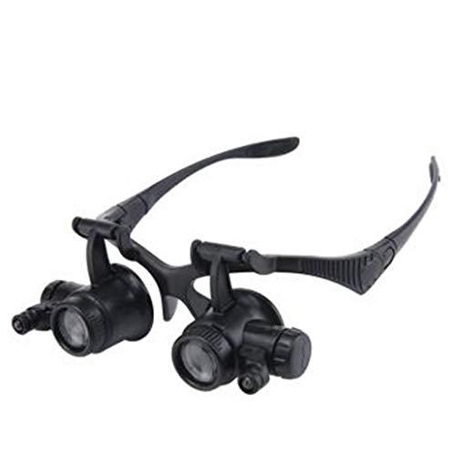 Headset Brille Lupe mit Lichter HD Reparatur Uhr Gravur antike Stickerei Lesung 20 Mal tragbare Linse einstellbar