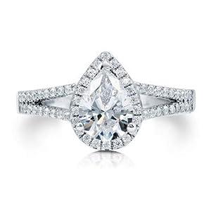 Damen-Ring/Ehering Moissanit 1,58 Karat Gold 14 Karat (750) Gold gestempelt 1,5 Karat (585) Größe P O L K J H N M Q O1/2