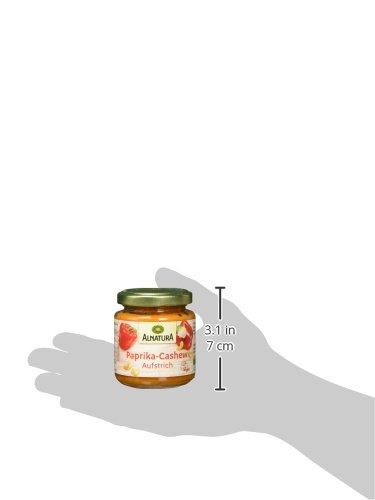 Alnatura Bio Brotaufstrich Paprika-Cashew, vegan, 6er Pack (6 x 125 g) - 6