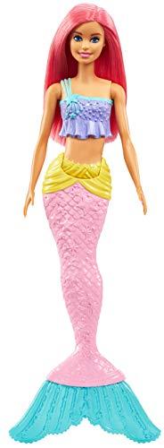 Barbie- dreamtopia sirena, bambola con coda che si muove, giocattolo per bambini 3+ anni, ggc09