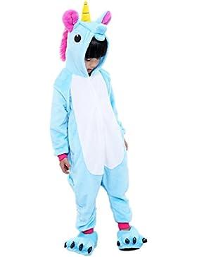 EmilyLe Niñas Pijamas Set Unicornio Ropa Traje de Cosplay de la ropa de noche de Animales