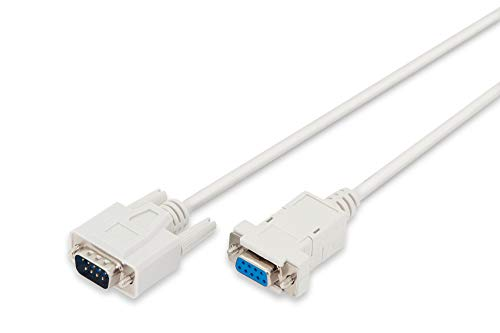 Haube-pin-kabel (DIGITUS Serielles Anschluss-Kabel - D-Sub 9 zu D-Sub 9 - Stecker zu Buchse - 2.0m Verlängerung - Schnapphauben - Beige)