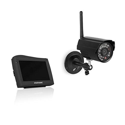 """Smartwares CS80DVR Digitales 2-Kanal Funk-Kameraüberwachungssystem mit 4,3\"""" Monitor mit kabelloser Kamera"""