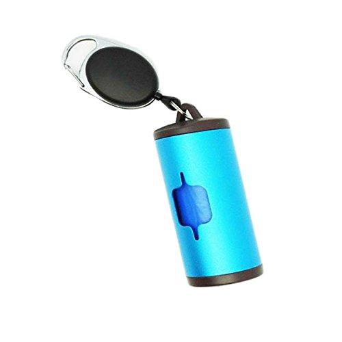 DaDago Aluminium Poop Taschen Dispenser Patentierten Degradable Pet Poop Taschen Outdoor Pet Excrement Garbage Clean - Blau -