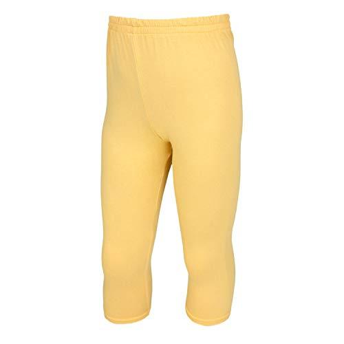 TupTam Mädchen Leggings 3/4 Capri Blickdicht, Farbe: Gelb, Größe: 146