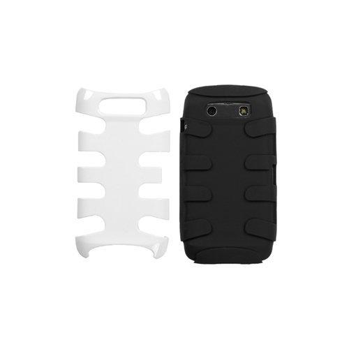 MyBat Schutzhülle für BlackBerry Torch 9850, Titan, Fischgrätenmuster, Ivory White/Black White Blackberry Faceplates