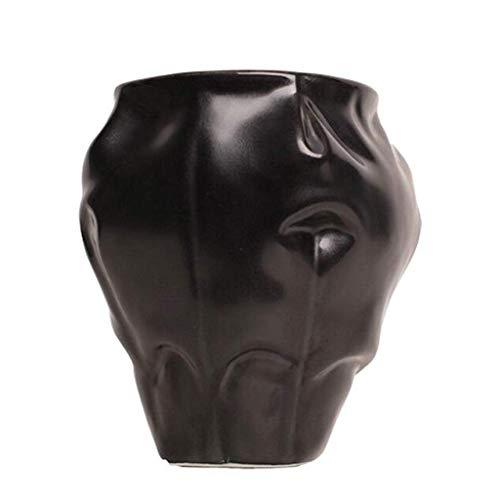 LXF Abstrait Créatif en Verre en Céramique Décoration Blanc Noir Salon Bureau Table À Manger Bureau De Mode De Maison À Vin Cabinet TV Comptoir Décoration (Taille : A)