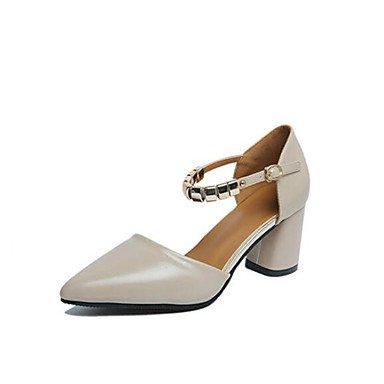 Scarpe Donna FYZSDONNA Tacchi Primavera Estate Autunno Club calzature Pelletteria Outdoor ufficio & carriera casuale che cammina Chunky US7.5 / EU38 / UK5.5 / CN38