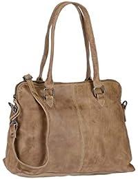 c3c60af67f2cc0 Bear Design Schultertasche Handtasche Tasche Leder Callisto Pelle Taupe