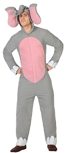 Atosa-26893 Disfraz Elefante, Color gris, X l (26893