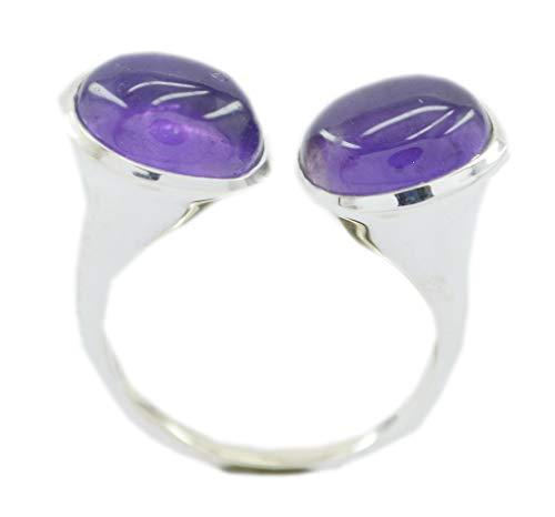 Riyo anello in argento sterling 925 con incastonatura in argento sterling 925, anello in argento pietra viola ametista