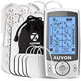 """AUVON Dual Channel TENS Unit Muscle Stimulator Machine with 20 Modes, 2"""""""
