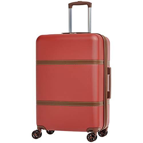 AmazonBasics - Trolley rigido Vienna, 68 cm, Rosso