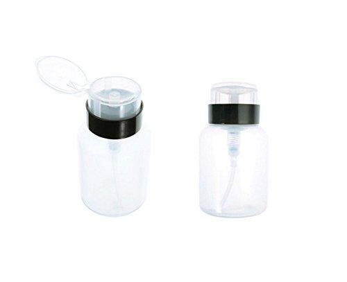 1 PCS 200ml Transparent Plastique Haute Capacité Cosmétiques Maquillage Nail Art Polish Remover Cleaner Pompe Bouteille Pot Conteneur Jars