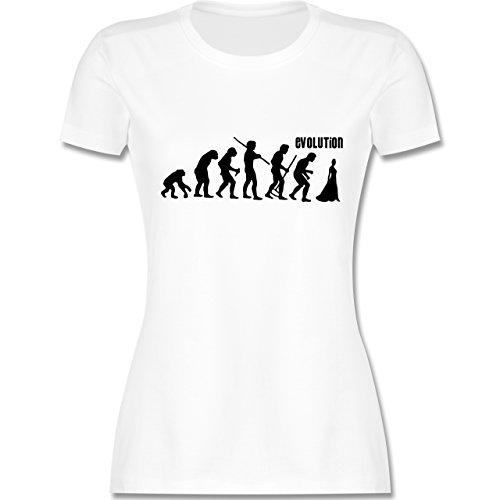 Evolution - Braut Evolution - tailliertes Premium T-Shirt mit Rundhalsausschnitt für Damen Weiß