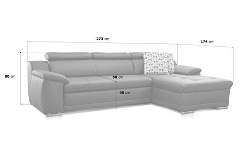 Ecksofa günstig: Cavadore  Aniamo  XL-Longchair rechts Bild 5*