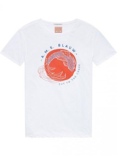 Scotch & Soda Herren T-Shirt Japanese Souvenir White (00)