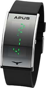 APUS 148–Uhr für Männer, Kunststoff-Armband Schwarz