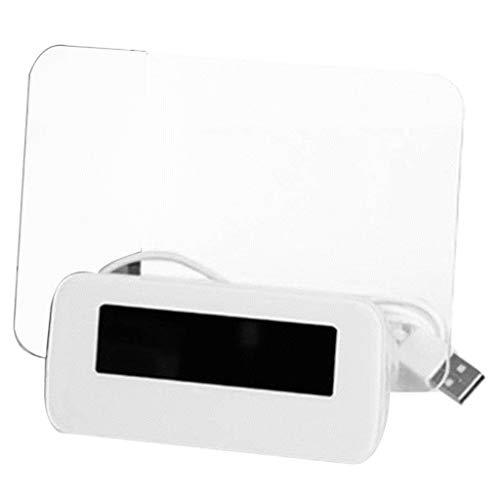 non-brand Baoblaze LED Wecker Digital Wecker Tischuhr Datum/Temperatur Anzeige mit Fluorescent Message Board - Weiß + Blau 3 (Non-digital-wecker)