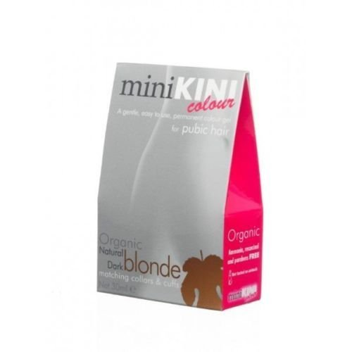 miniKini Colour - Permanentes Haarfarbe für Schamhaare - Dunkelblond