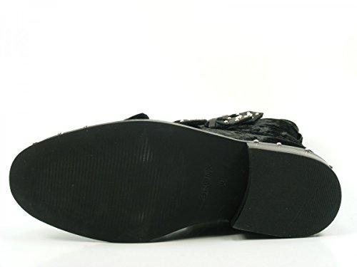 Bronx Bwagonx 46994-c-01 Scarpe Da Donna Chelsea Stivali Biker Stivaletti Neri