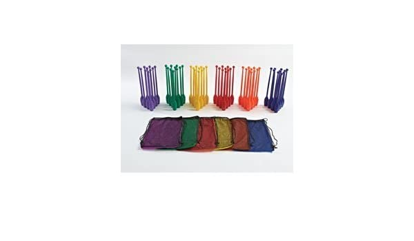 Medium 6 Packs of 10 Pins with a of 60 Multicolor Total pins Gamecraft Slimpins Bowling Pins
