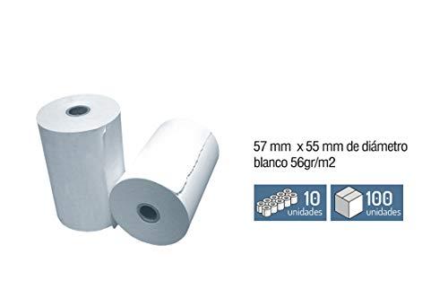 10 Rollos Papel Registradora - Termico 57 x Ø 55