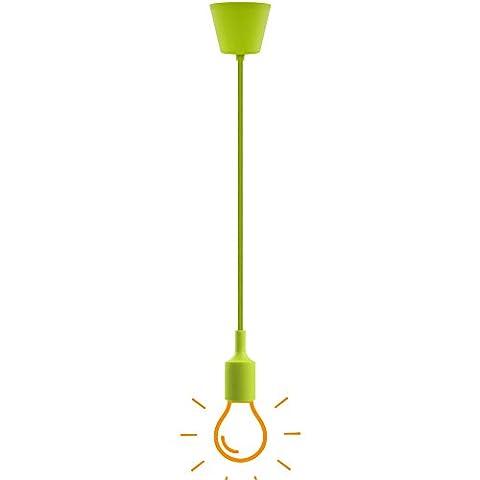 Green Ceiling Hanging Pendant Light Fixture in Colorful DIY E27 Pendant Lamp Holder Cord Collection (Illuminazione Decorativa A Sospensione Illuminazione)