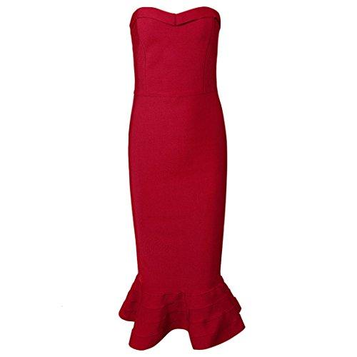 HLBCBG Damen Kleid Orange Orange Orange - Rot