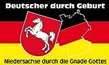 Niedersachsen Gnade Gottes Fahne Flagge Grösse 1,50x0,90m - FRIP –Versand®