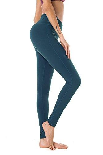 Queenie Ke Damen Sport Yoga Gestreckt Legging Hose Leggings Size XL Color Grün
